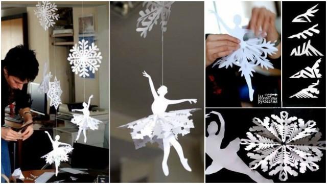 Paper Snowflake Ballerina 5