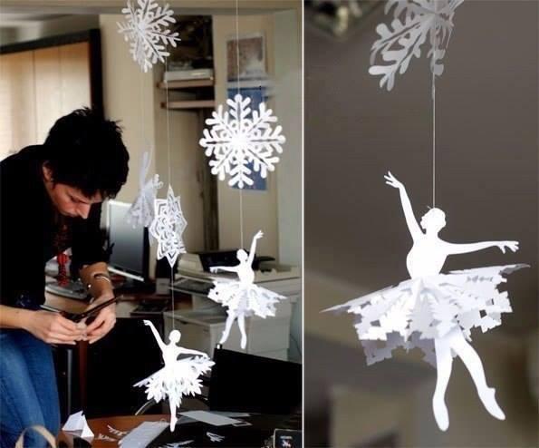 Paper Snowflake Ballerina