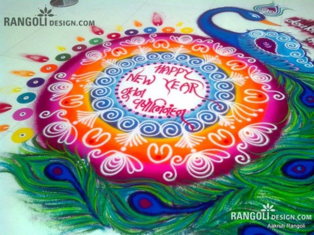 how to make rangoli design stencils at home