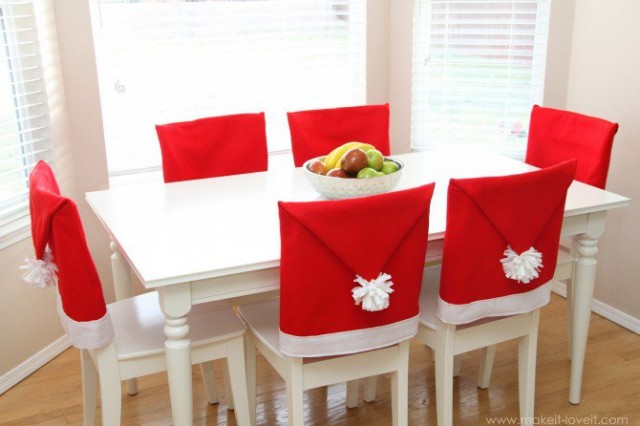 Santa Hat Chair Cover Tutorial 1