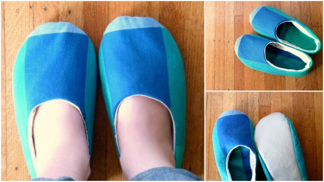 Simple Sewn Fabric Slippers