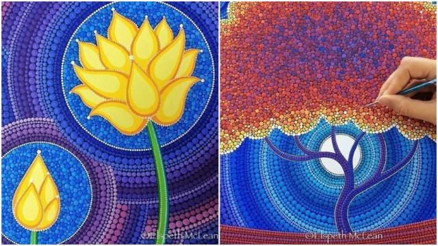 Spectacular Mandala Stones From Dotillism Artist Elspeth McLean