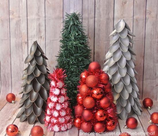 Spoon Christmas Trees