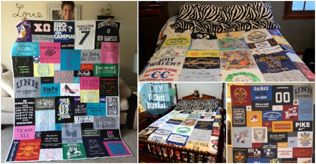 How To Diy Quilt Blanket With Old T Shirts How To Instructions