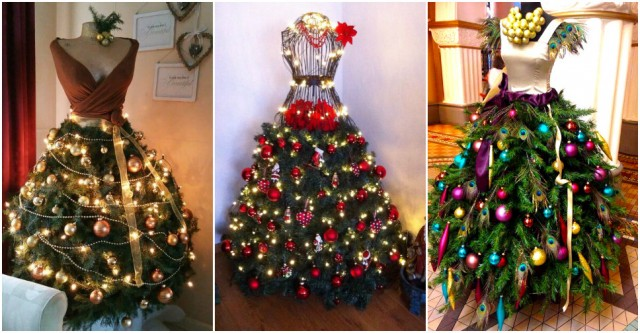 Dress Form Christmas Tree.Diy Fashion Inspired Dress Form Christmas Trees How To
