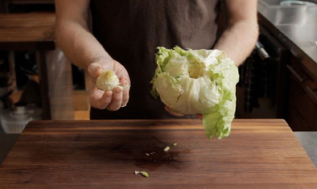 How To Core A Head Of Iceberg Lettuce