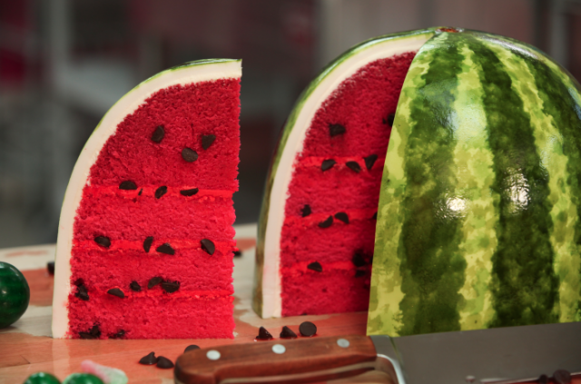 How To Make A Watermelon Cake | How To Instructions