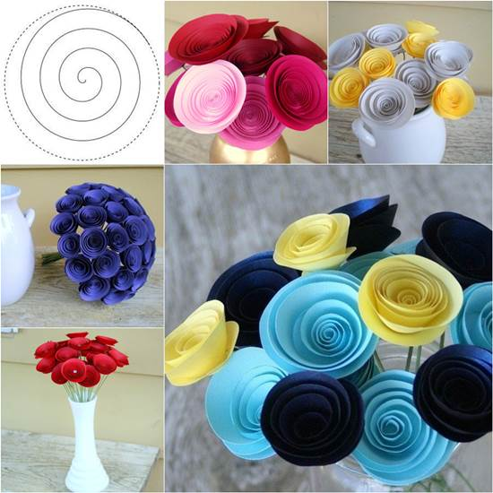 How To Make Inviting Swirly Paper Flowers