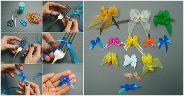 How To Tie A Bow Using A Fork