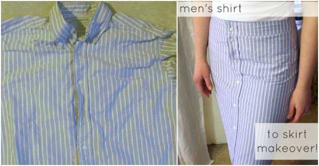 How To Turn A Men's Shirt Into A Skirt 1
