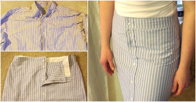 How To Turn A Men's Shirt Into A Skirt