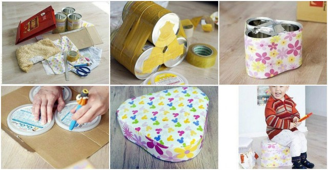 How To Turn Tin Cans Into A Stool 1