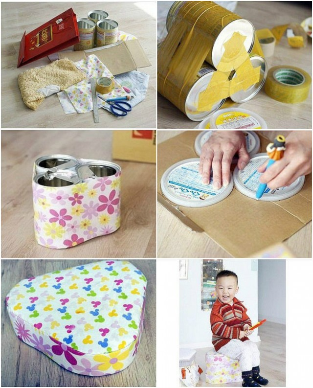 How To Turn Tin Cans Into A Stool