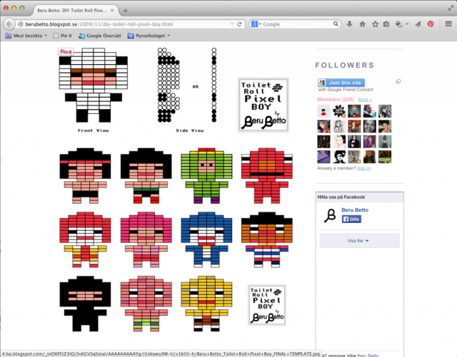 Pixel boy pattern