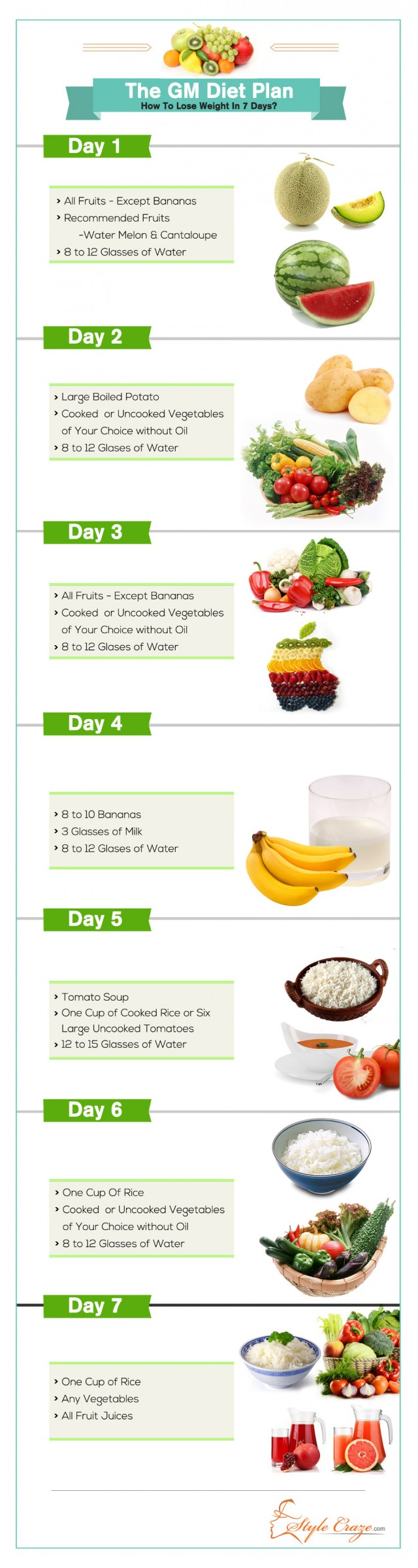 gm diet plan for weight loss