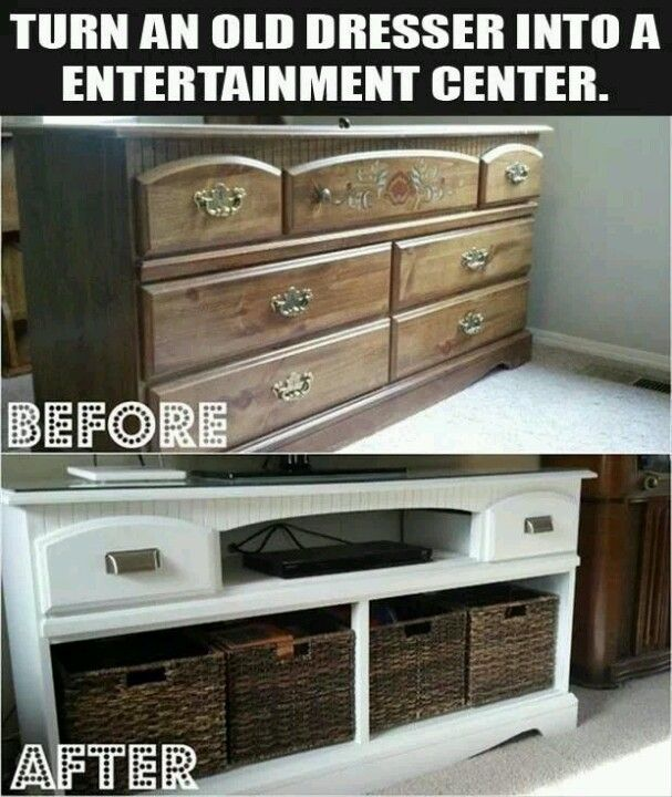 dresser-into-entertainment-center
