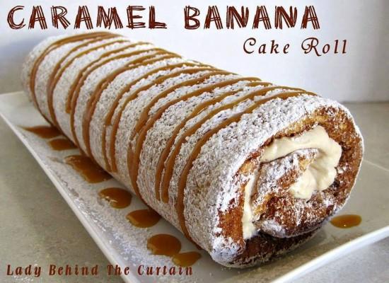Caramel Banana Cake Roll 1