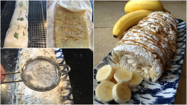 Caramel Banana Cake Roll 2
