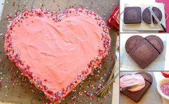 Heart-shaped-Cake