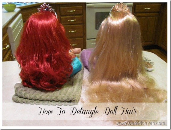 How to Detangle Doll Hair 1