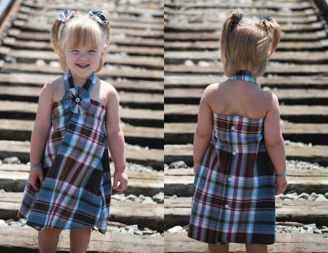 Upcycle Men's Shirt Into Toddler Dress