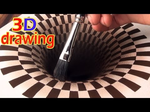 Amazing Anamorphic Optical Illusion – How To Draw A Hole