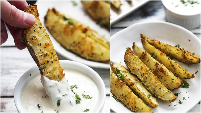 Baked Parmesan Potato Wedges