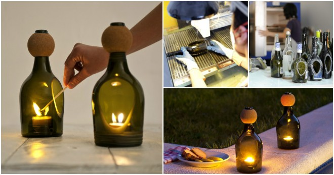 Bottle Candle Lanterns