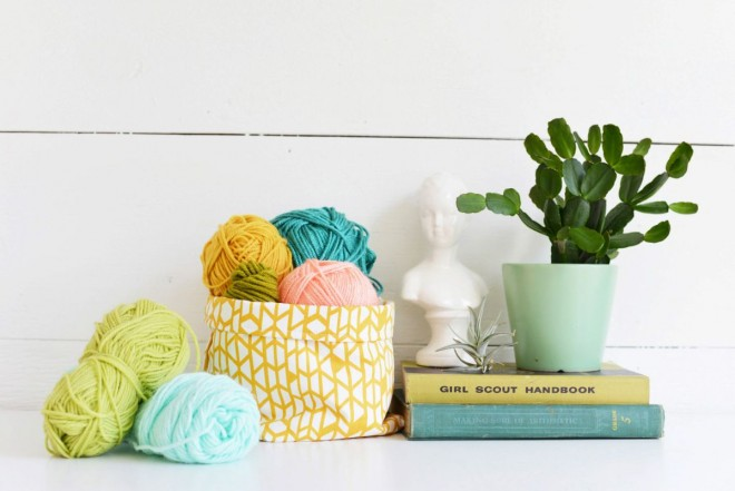 DIY-Fabric-Basket-Colorful