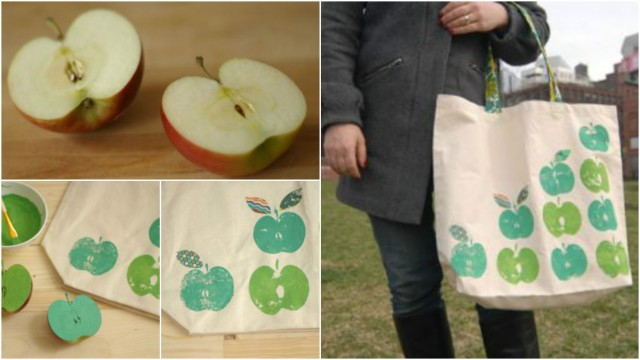 How to Make an Apple-Print Tote Bag 1
