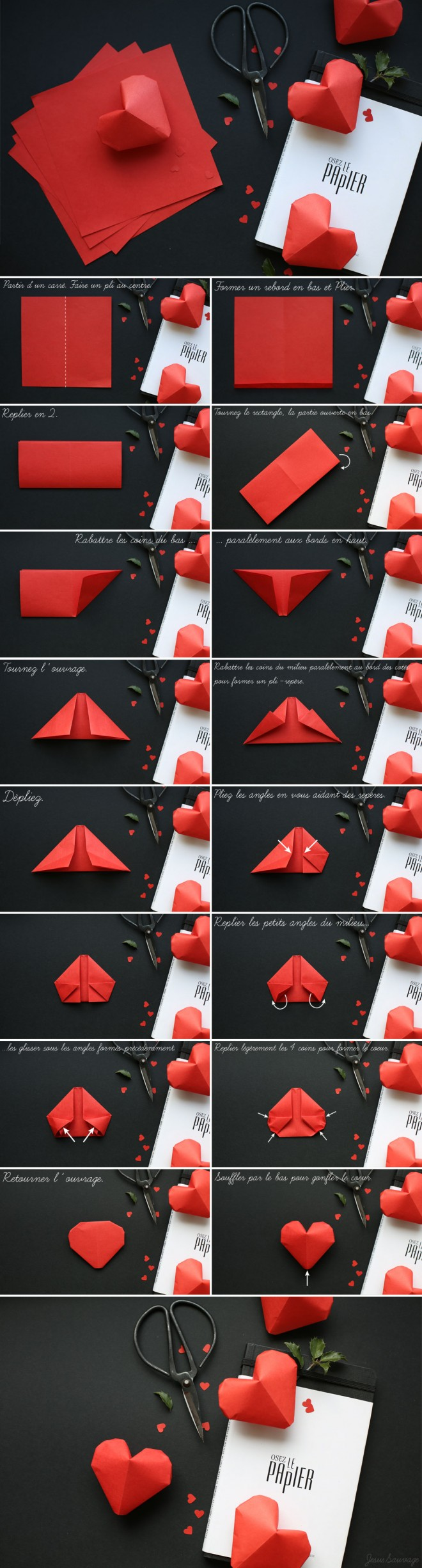 how to fold lovely 3d origami hearts how to instructions