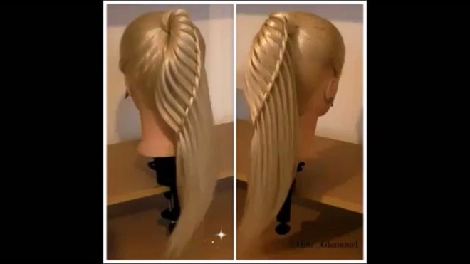 Side WaterFall PonyTail