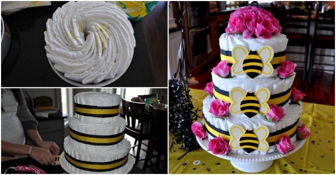 Bee Diaper Cake