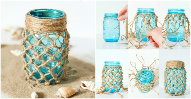 Fishnet Mason Jar
