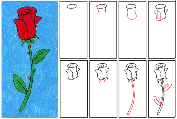 How To Draw A Rose 1
