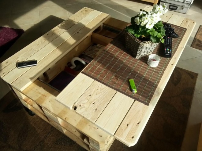 How To Make A Multi Functional Coffee Table With Pallets How To Instructions