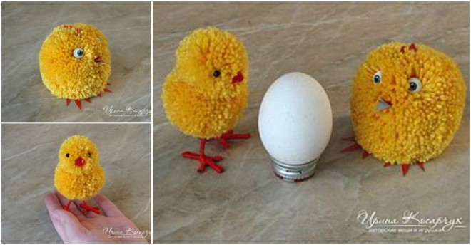 Pom pom chick tutorial