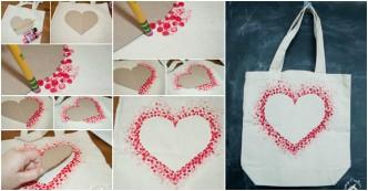 DIY Heart Tote Bag
