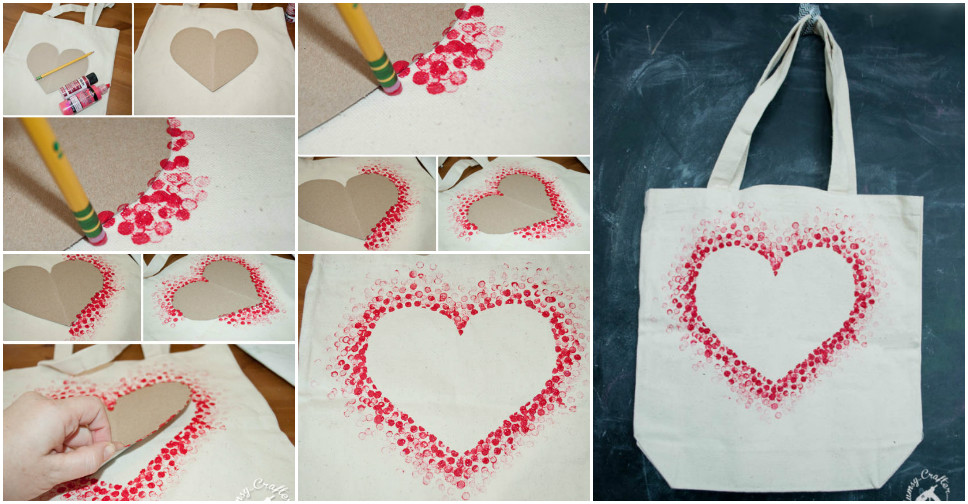 Diy Heart Tote Bag How To Instructions