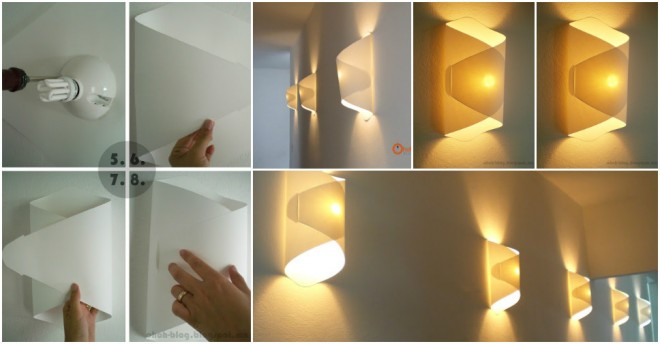 Cool Diy Wall Lamps : How To Make Cool DIY Paper Lamp Step By Step Tutorial Instructions How To Instructions