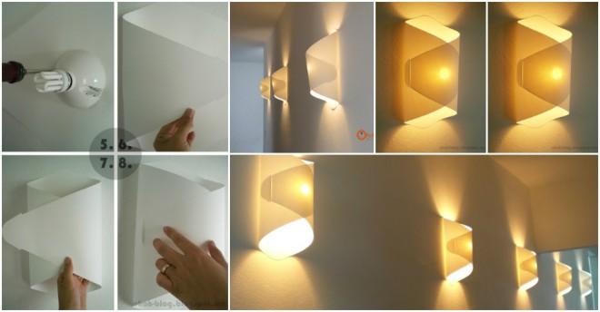 DIY Wall Paper Lamp Instructions