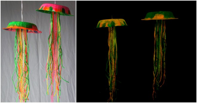 DIY glow-in-the-dark jellyfish craft