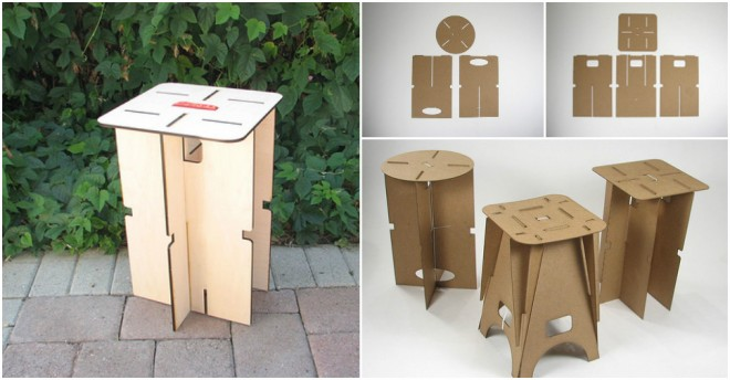 Flat-Packing Portable Stool
