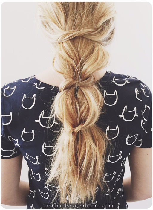 How To Do Messy Knotted Ponytail