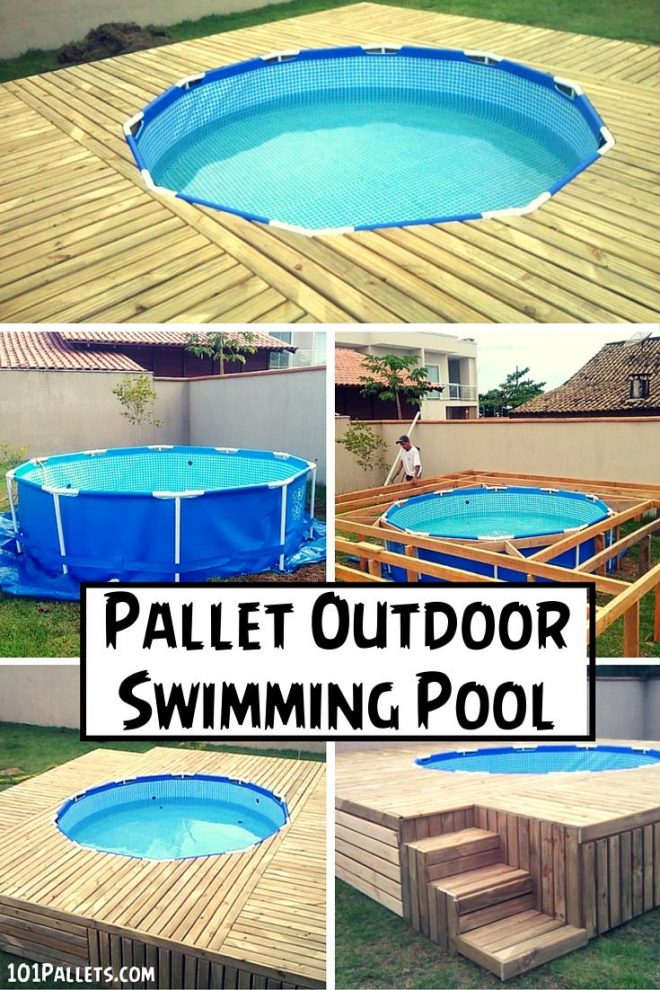 How To Make Outdoor Pallet Swimming Pool