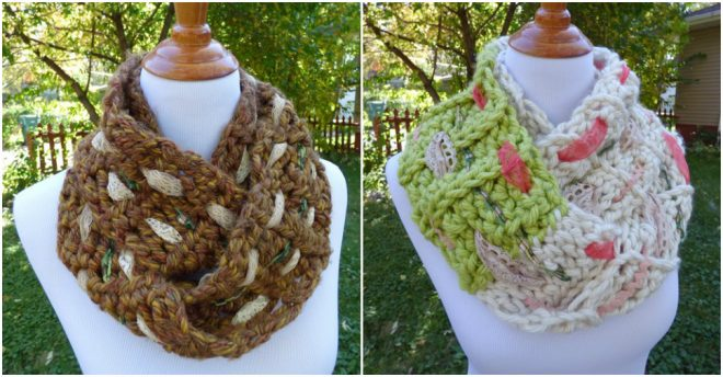 Multi-media Infinity Scarf Free Crochet Pattern