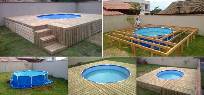 Outdoor Pallet Swimming Pool