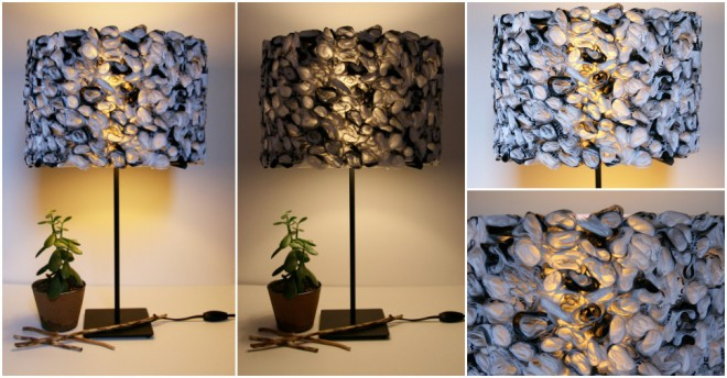 Plastic Bag Drum Light Shade