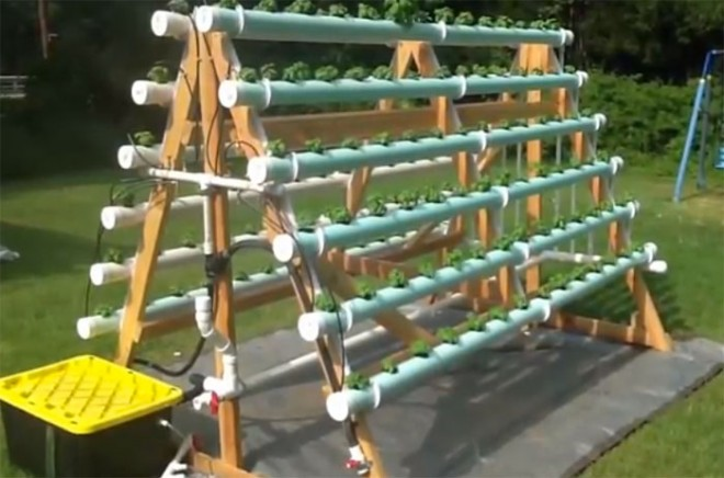 How To Build A Vertical Hydroponic Veggie Garden How To