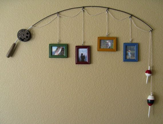 DIY Fishing Pole Picture Frame